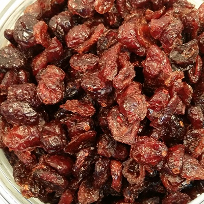 Canneberges infusées au jus de pommes biologiques, Canada - 100gr (taxable)